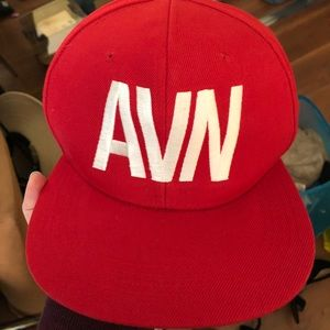 NEW flat bill SnapBack hat with AVN magazine logo